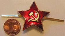 Soviet USSR Russian Army Red Star Hat Enamel Metal Pin Badge