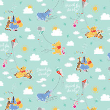 Disney Winnie the Pooh Kite Flying 100% Cotton fabric by the yard PRE-ORDER