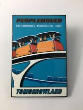 Disney Disneyland DLR Pin Framed Attraction Poster Tomorrowland Peoplemover LE