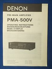 DENON PMA-550V OWNER MANUAL ORIGINAL FACTORY ISSUE THE REAL THING