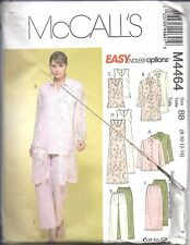 4464 UNCUT Vintage McCalls Sewing Pattern Misses Jacket Duster Top Dress Pants