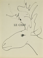 """Le Cerf"" By Pablo Picasso Lithograph from Buffon Book 14 3/4""x11"""