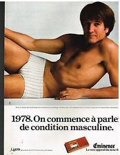 Publicité Advertising 1978 Sous Vetements pour Hommes Slip Eminence