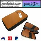Global Art - Professional Quality Saddle Brown Leather Pencil Case - Holds 48