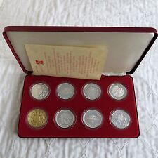 1977 SILVER JUBILEE 8 CROWN SILVER PROOF COLLECTION - boxed/coa