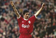 Hand Signed 8x12 photo ROBBIE FOWLER Liverpool ENGLAND Football + COA