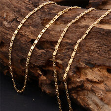Women Man 14K Gold Filled Stylish Necklace Classic Link Chain Graceful Jewelry