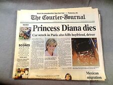 PRINCESS DIANA Newpaper - COURIER-JOURNAL (KY) August 31 1997 DIES IN CAR WRECK