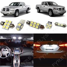 5x White LED lights interior package kit for 2005-2011 Dodge Dakota DD1W