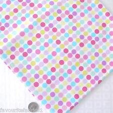 POIS POUR ROSE BLEUE MULTICOLORES TACHES tissu en coton par mètre RÉTRO FUNKY