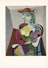 """1955 Vintage """"WOMAN in an ARMCHAIR"""" by PICASSO LOVELY Color Art Plate Lithograph"""