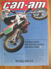 CAN-AM MX VINTAGE GARAGE SHOP POSTER ROTAX BOMBARDIER FREE SHIP US+CANADA