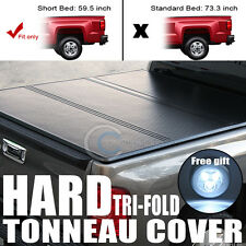 TRI-FOLD SOLID TONNEAU COVER TRUNK LID JR FOR 05-16 FRONTIER/EQUATOR CREW 5' BED
