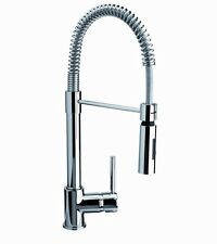 Franke chrome PULL down SPRING SPRAY Kitchen SINK TAP single lever DECK MOUNTED