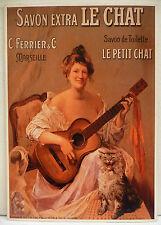 CPM REPRODUCTION AFFICHE ANCIENNE / SAVON LE CHAT / VERS 1900