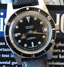 Vintage Monnier Diving Watch Automatic Diver RARE Countdown Bezel Runs & Looks +