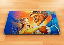Beauty and the beast glass chopping cutting board food gift disney cute love uk