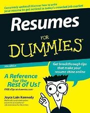 Resumes for Dummies by Joyce Lain Kennedy (2007, Paperback, Revised)