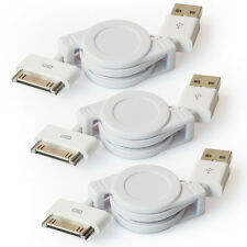 3x USB 2.0 to 30PIN Data Sync&Charger Retractable Cable for Iphone 4G,Ipad4,Ipod