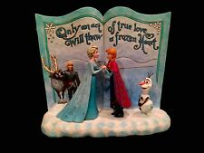 Jim Shore Disney Traditions Frozen Storybook Statue~Elsa and Anna! New!