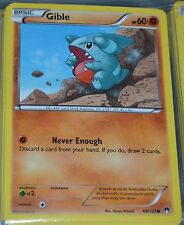 Gible # 68/122 XY Breakpoint Set Pokemon Trading Cards Break Point MINT