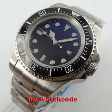 44mm parnis black blue Sterile dial Ceramic Bezel sub automatic mens watch B49