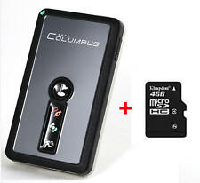 Columbus V-990 GPS Data Logger + 4GB memory card formatted with FAT for V-990