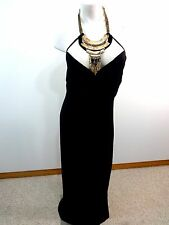 NWOT CITY CHIC WOMENS BLACK BACKLESS PARTY DRESS W HEAVY GOLD NECKLACE SIZE XL