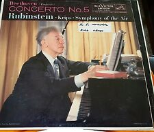 RUBINSTEIN - BEETHOVEN CONCERTO NO. 5 (RCA 'SHADED DOG' LM-2124) NM