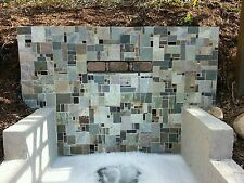 Travertine SLATE Glass Granite MOSAIC RANDOM TILES Kitchen Backsplash FREE S&H
