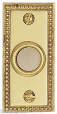 Heath Zenith Door Bell Chime Wired PUSH BUTTON Solid Brass Recessed Mount