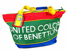 VTG 90S UNITED COLORS OF BENETTON TOTE BAG PACK FORMULA ONE RACING COLORBLOCK