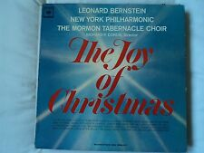 The Joy of Christmas New York Phil Bernstein Mormon Tabernacle ~US pressing ~VG