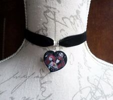 SALLY JACK Skellington Heart Gothic Velvet Choker Nightmare Before Christmas