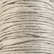 Cordon Coton Ciré 0,8mm – 5 Mètres Ivoire pour Colliers et Bracelets de perles