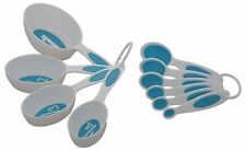 Set Of 10 Pcs White Measuring Cups & Spoons