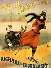 ADVERTISING RICHARD CHOUBERSKY BICYCLETTE ROLLER SKATE ICE FRANCE POSTER LV1128