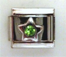 9mm tamaño clásico italiano encantadoras Piedras preciosas Star Peridot agosto