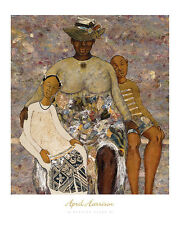 "African American Art ""A Resting Place II"" Black Family art print April Harrison"