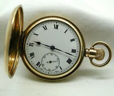 Super Condition 10ct Gold Filled Full Hunter Pocket Watch