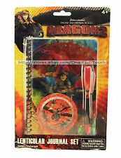 HOW TO TRAIN YOUR DRAGON 2* 50 Lined Sheets LENTICULAR JOURNAL+Pen+Sticker Set