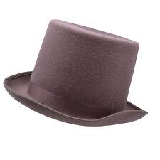 Woolen Felt Brown Top Hat Ascot Victorian Gentleman Fancy Dress Costume Prop