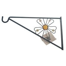 "GARDEN HANGING BASKET METAL WALL BRACKET - FLOWER - UP TO 16"" BASKETS"