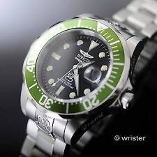 Invicta Grand Pro Diver Automatic Black Dial 300m WR Green Bezel 47mm Mens Watch