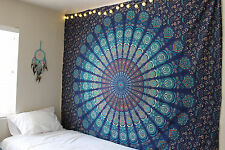 Mandala Wall Hanging Bedspread Bedsheet Boho Bed Cover Tapestry Twin Bedding
