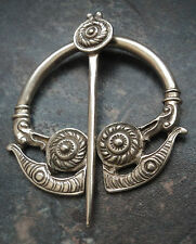 LARGE Scottish Silver Iona Zoomorphic Kells Brooch 1956 W.H. Darby / A. Ritchie