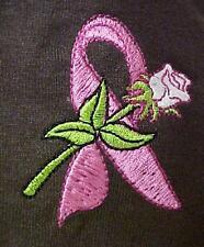 Breast Cancer Awareness Pink Ribbon Rose Brown L/S T-Shirt Unisex 2X New