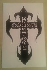 "GENUINE BRAND NEW COUNT'S KROSS STICKER - BLACK PREMIUM VINYL DECAL 7""x 4"""
