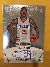JOEL EMBIID 2014-15 PANINI PREFERRED ROOKIE REVOLUTION AUTO RC /49 SIXERS ROOKIE