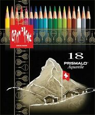 CARAN D'ACHE PRISMALO COLOUR PENCILS - Box of 18 assorted watercolour pencils